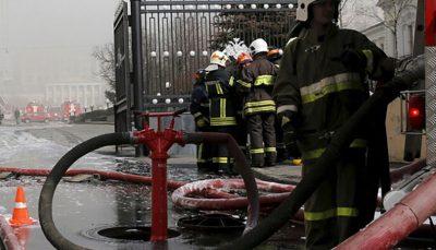 وقوع آتشسوزی در یک بیمارستان در روسیه/ فیلم