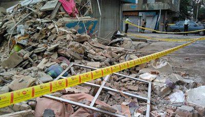 پایان عملیات آتش نشانان/فوت ۲نفر در حادثه ریزش دیوار خیابان ابوذر