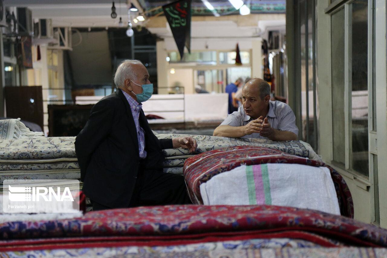 حال و هوای بازار فرش محتشم تهران