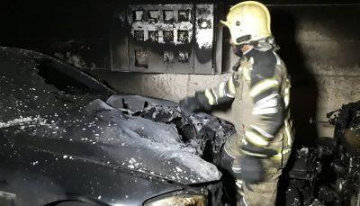 آتشسوزی در پارکینگ یک ساختمان مسکونی نجات ۲۵ نفر از ساکنان ساختمان ساختمان مسکونی, آتشسوزی