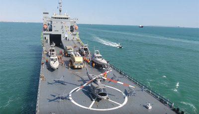 الحاق یک ناو اقیانوسپیما به نیروی دریایی سپاه پاسداران/ عکس