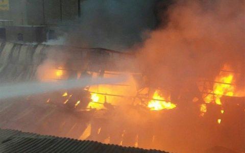 انفجار مهیب در کارخانه صنعتی اردستان اصفهان
