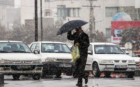 هواشناسی ایران/ باران و برف ۵ روزه در ۱۴ استان