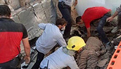 ریزش ساختمان 3 طبقه در حال ساخت در مشهد مشهد, ریزش ساختمان