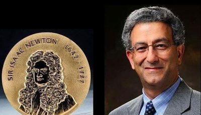 محقق ایرانی برنده مدال طلای نیوتن شد مدال طلای نیوتن, محقق ایرانی