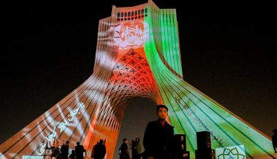 برج آزادی برای همدردی با افغانستان نورپردازی برج آزادی برای همدردی با افغانستان