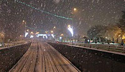 هواشناسی بارش برف شبانه در ارتفاعات تهران بارش برف و باران, سازمان هواشناسی