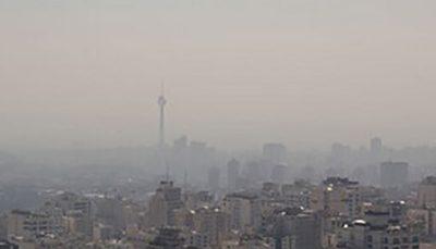 هوای تهران برای گروههای حساس ناسالم شد شاخص هوای پایتخت, هوای تهران