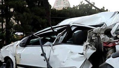 واژگونی خودروی پژو ۲۰۶ در قزوین ۲ کشته و یک مجروح بر جای گذاشت