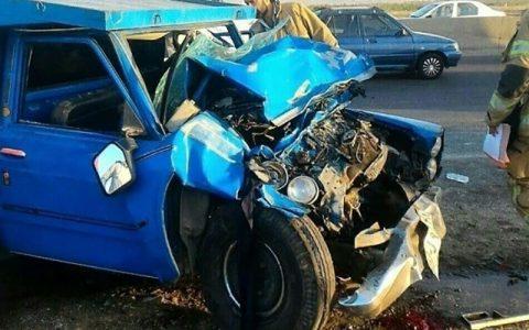 کشته و زخمی شدن ۶ سرنشین در یک حادثه رانندگی در شهرستان لالی