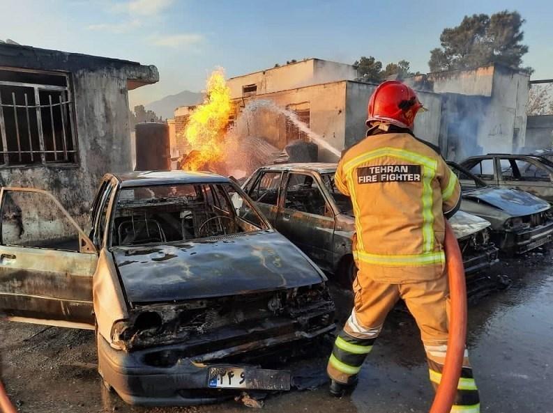 13990827165918530216299210 آتشسوزی کپسولهای گاز مایع, جاده مخصوص کرج