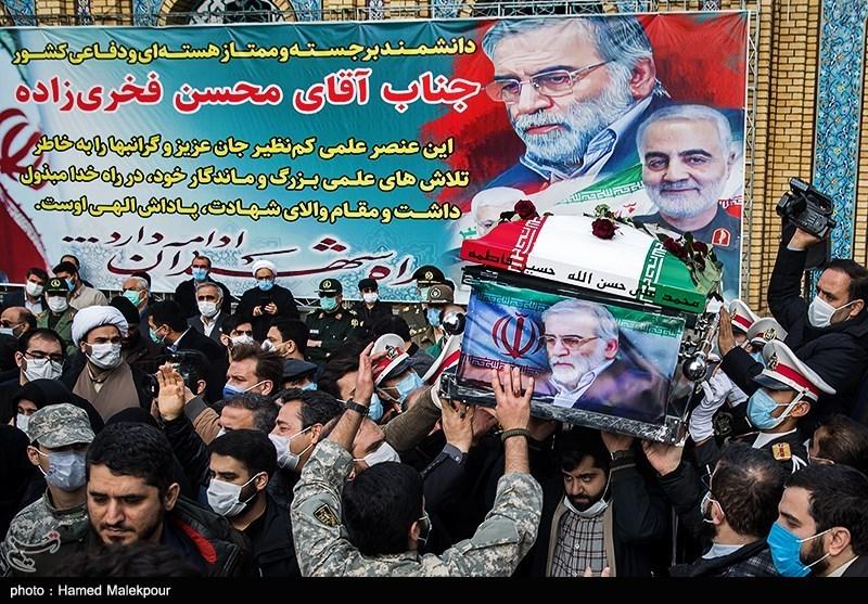 1399091014143225521720834 شهید محسن فخریزاده, امامزاده صالح(ع), تشییع و خاکسپاری