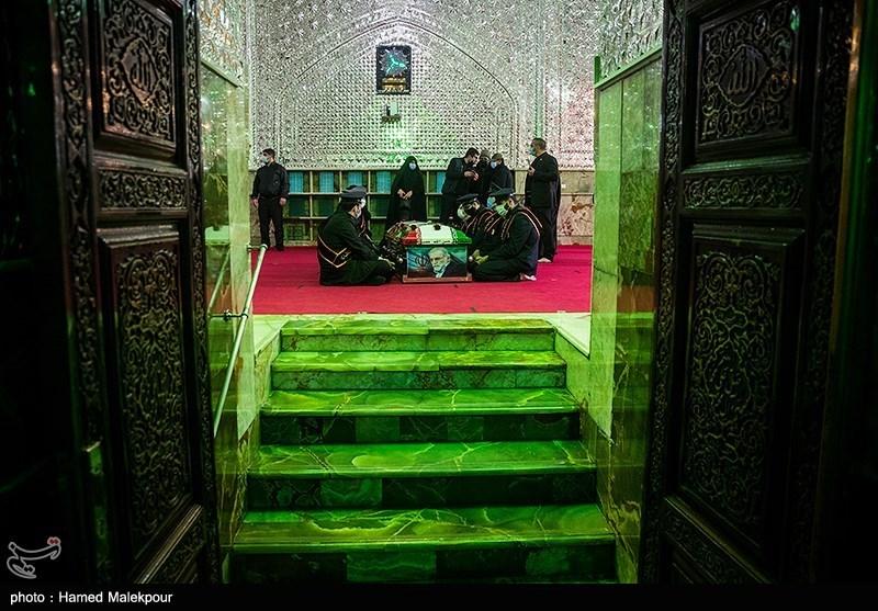 1399091014143252121720834 شهید محسن فخریزاده, امامزاده صالح(ع), تشییع و خاکسپاری