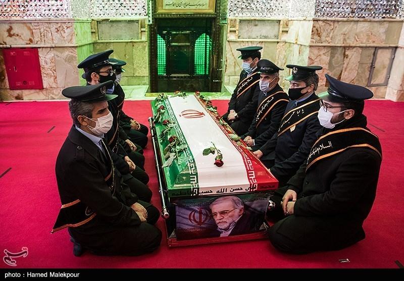 1399091014143261521720834 شهید محسن فخریزاده, امامزاده صالح(ع), تشییع و خاکسپاری