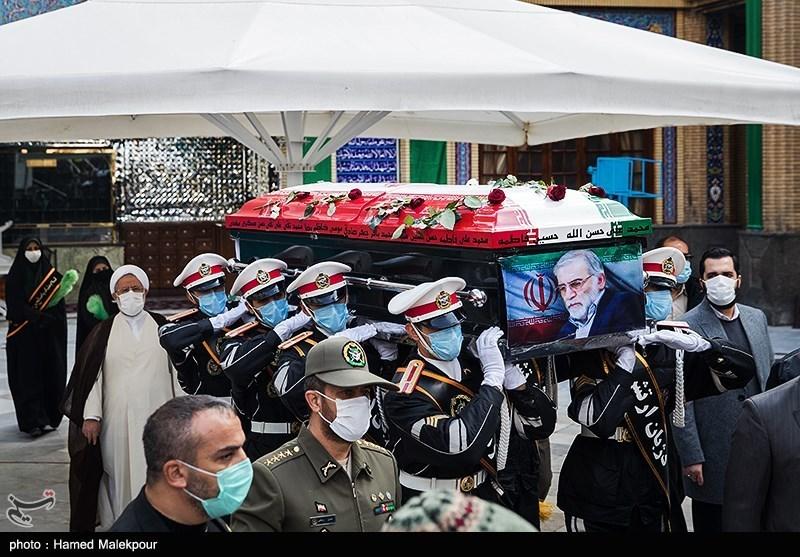 1399091014143277121720834 شهید محسن فخریزاده, امامزاده صالح(ع), تشییع و خاکسپاری
