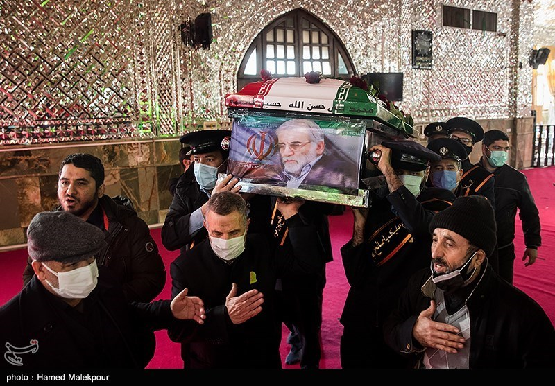 1399091014143286521720834 شهید محسن فخریزاده, امامزاده صالح(ع), تشییع و خاکسپاری