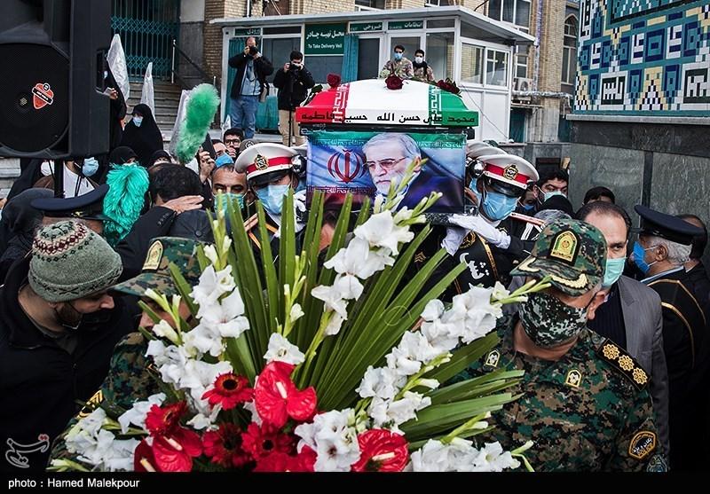 1399091014143327121720834 شهید محسن فخریزاده, امامزاده صالح(ع), تشییع و خاکسپاری
