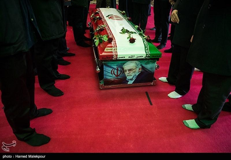 1399091014143381821720834 شهید محسن فخریزاده, امامزاده صالح(ع), تشییع و خاکسپاری