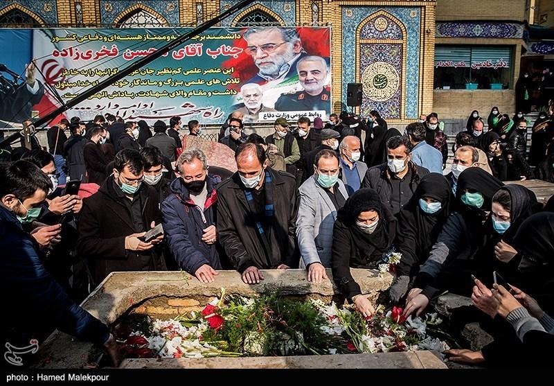 1399091015052979421722104 شهید محسن فخریزاده, امامزاده صالح(ع), تشییع و خاکسپاری