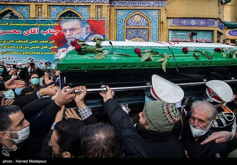 1399091015052993421722104 شهید محسن فخریزاده, امامزاده صالح(ع), تشییع و خاکسپاری