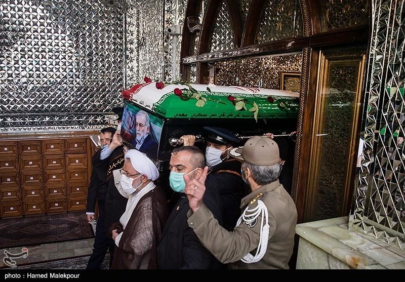 1399091015053030921722104 شهید محسن فخریزاده, امامزاده صالح(ع), تشییع و خاکسپاری