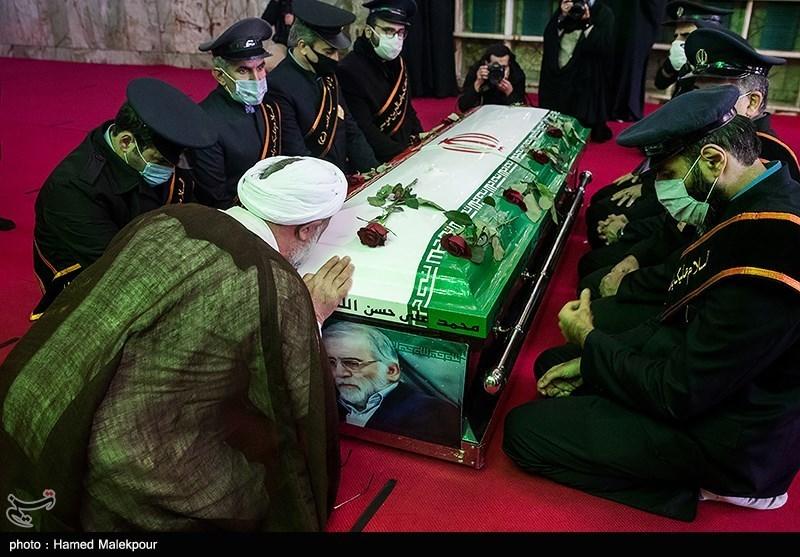 1399091015053052821722104 شهید محسن فخریزاده, امامزاده صالح(ع), تشییع و خاکسپاری