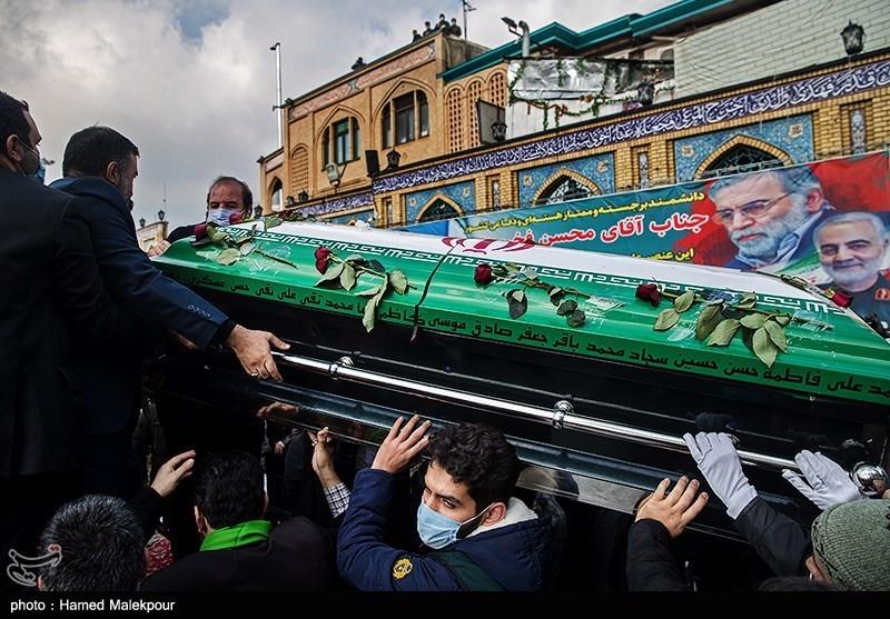1399091015053084121722104 شهید محسن فخریزاده, امامزاده صالح(ع), تشییع و خاکسپاری