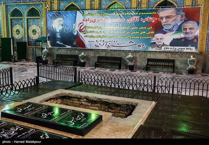 1399091015395375221722984 شهید محسن فخریزاده, امامزاده صالح(ع), تشییع و خاکسپاری