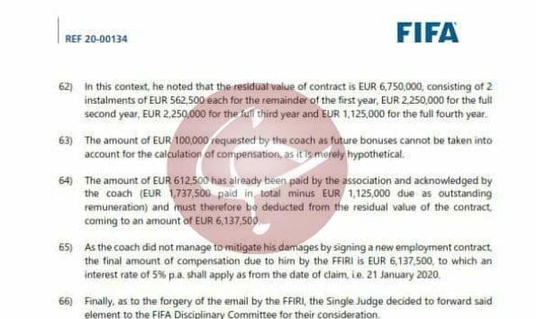 جعل ایمیل توسط فدراسیون فوتبال در پرونده ویلموتس تائید شد/ عکس
