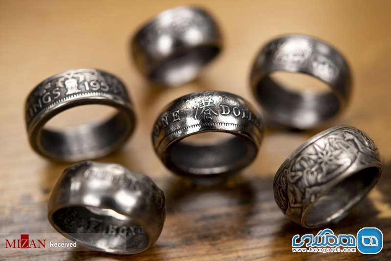 انگشترهایی از جنس سکه / تصاویر
