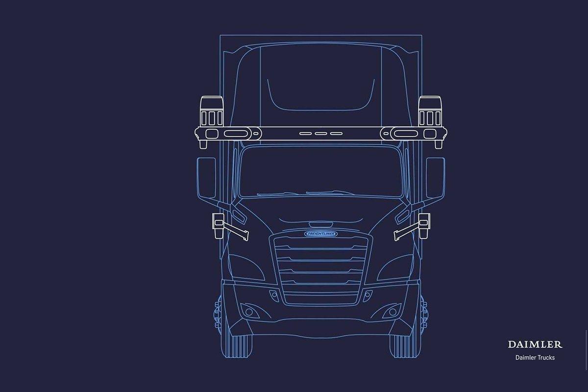freightliner cascadia فناوری خودران, مرسدس بنز