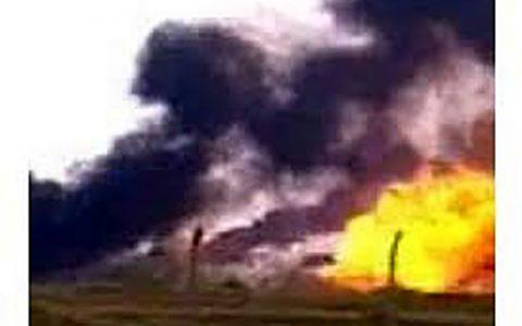 انفجار در میدان نفتی کرکوک عراق کرکوک عراق