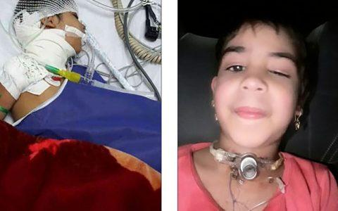 زینب دختر کلاس اولی 14 ماه پیش در جدال با مرگ بود حمله سگ های ولگرد, شهرداری خرمشهر