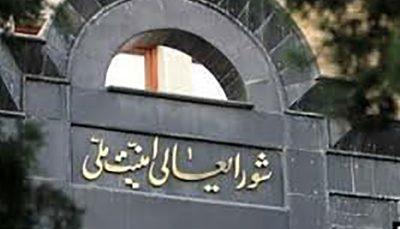شورای عالی امنیت ملی پشت مجلس درآمد