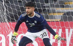 عابدزاده دروازهبان منتخب آسیا در سال ۲۰۲۰