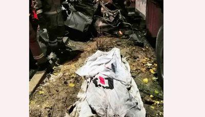 له شدن زن تهرانی زیر چرخ های کامیون در بزرگراه امام علی