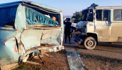 مصدومیت ۳۰ نفر در یک تصادف زنجیرهای در مسجد سلیمان