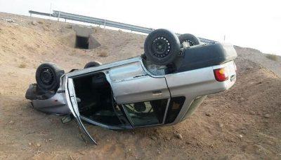 واژگونی پراید راننده ۶۰ ساله را به کام مرگ برد