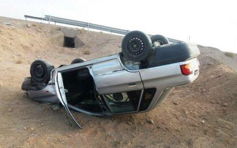 پراید راننده ۶۰ ساله را به کام مرگ برد واژگونی پراید راننده ۶۰ ساله را به کام مرگ برد