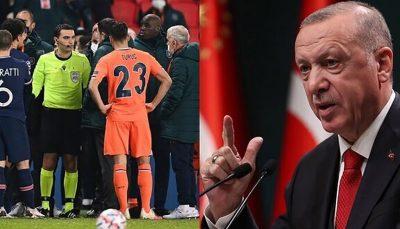 واکنش اردوغان به جنجال بازی دیشب باشاک شهیر و پاریسنژرمن 1 اردوغان