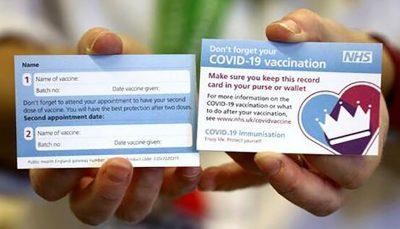 کارت واکسیناسیون کرونا در انگلیس کارت واکسیناسیون کرونا, واکسیناسیون سراسری, انگلیس
