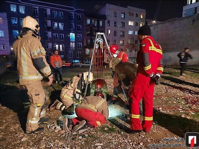 13990919151734540217842210 سقوط در چاه ۱۰ متری, آتشنشانی تهران