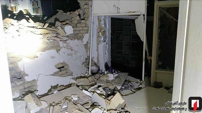 انفجار شدید در یک ساختمان مسکونی در شرق تهران/ عکس