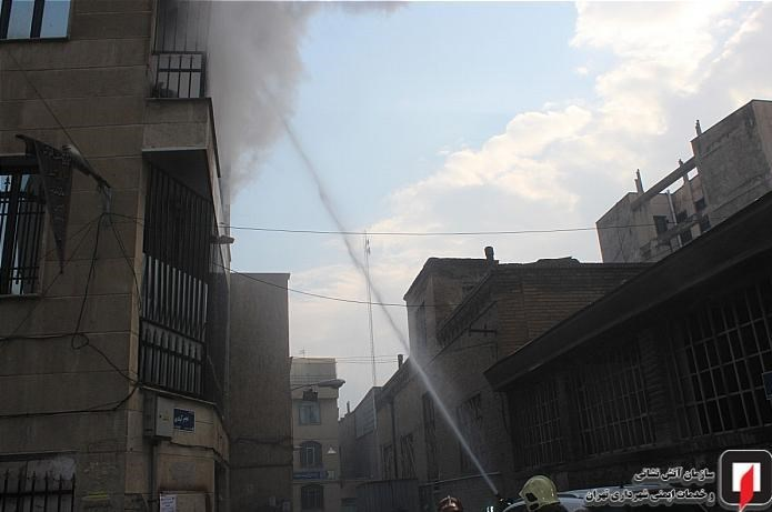 13991004150427418218761810 کارگاه طلاسازی, بازار تهران, آتشسوزی