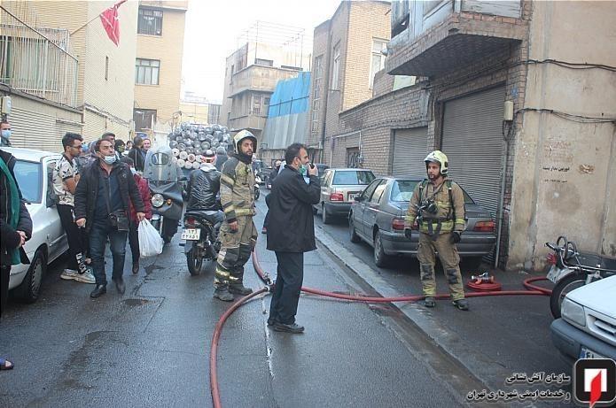 1399100415054559218762010 کارگاه طلاسازی, بازار تهران, آتشسوزی
