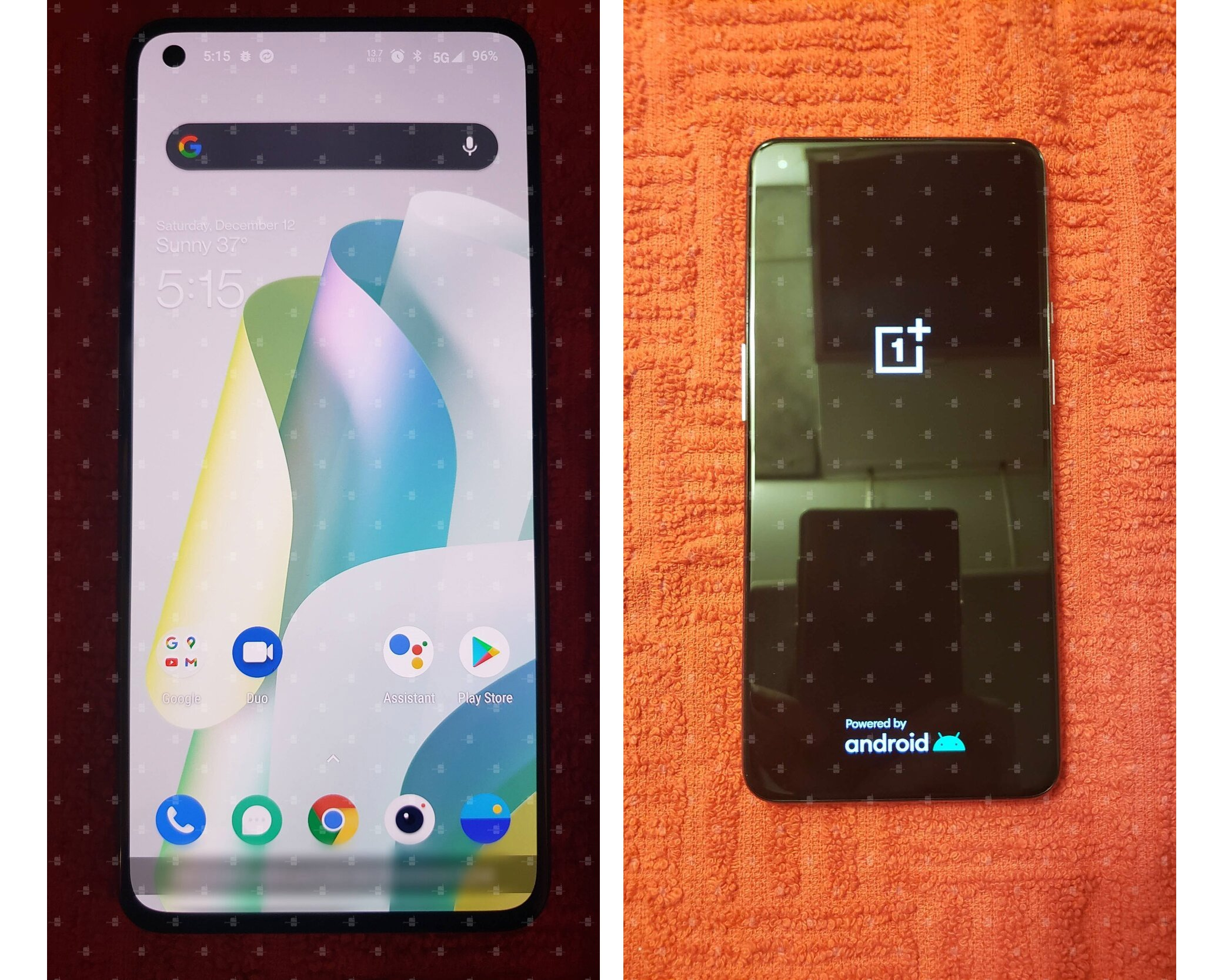 oneplus 9 5g prototype leaked real world front panel display وان پلاس 9 5G