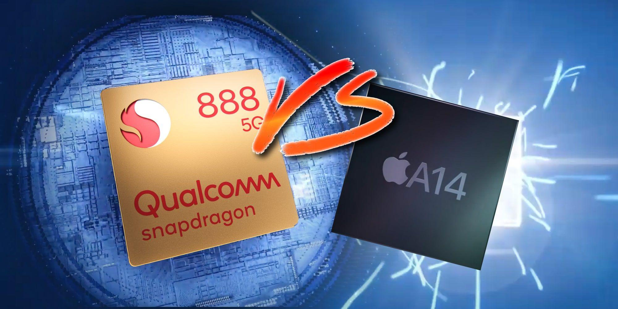 qualcomm snapdragon 888 vs apple a14 chip شیائومی می ۱۱, شیائومی