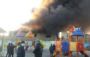 آتشسوزی گسترده در نزدیکی متروی شوش حوادث