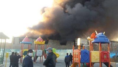 آتشسوزی گسترده در نزدیکی متروی شوش متروی شوش, آتشسوزی