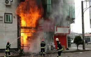 آتش گرفتن 6 خانه ویلایی در رشت حوادث